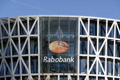 Rabobank sign on a wall in Roelofsarendsveen Netherlands Stock Image