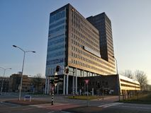 Rabobankbureau in Almere, Nederland stock afbeelding