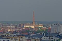 Rabot邻里鸟瞰图在跟特,富兰德,比利时 库存图片