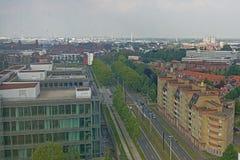 Rabot邻里鸟瞰图在跟特;富兰德,比利时 免版税库存图片