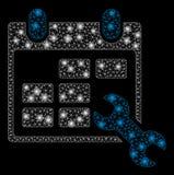 Raca siatki ścierwo Konfiguruje rozkład zajęć z Błyskowymi punktami royalty ilustracja