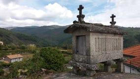 Raccards dans le nord du Portugal Images libres de droits