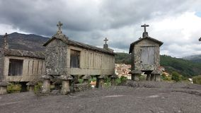 Raccards dans le nord du Portugal Images stock