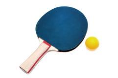 Racchetta blu di ping-pong di colore Fotografie Stock Libere da Diritti