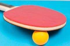 Racchetta di ping-pong Fotografie Stock