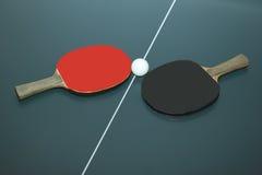 racchetta e palla isolate su bianco Fotografie Stock Libere da Diritti