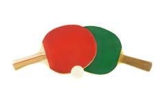 Racchetta e sfera di ping-pong due Immagine Stock