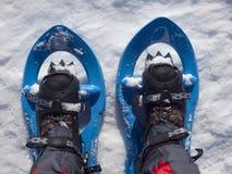 Racchette da neve per la camminata sulla neve Immagini Stock Libere da Diritti