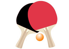 Racchette di ping-pong Immagine Stock Libera da Diritti