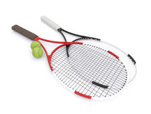 racchette di tennis 3d Fotografie Stock