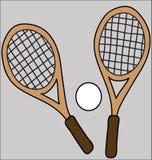 Racchette di tennis Fotografie Stock