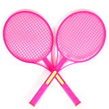 Racchette di tennis isolate Immagine Stock Libera da Diritti