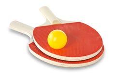 Racchette e sfera di tennis Immagine Stock