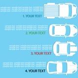 4 raccing car for you text Stock Photos