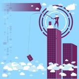 Raccogliendo i dati dalla nuvola Fotografia Stock Libera da Diritti