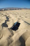 Raccoglitore alla spiaggia Fotografie Stock Libere da Diritti