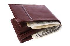 Raccoglitore con soldi Immagini Stock