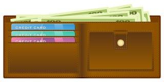 Raccoglitore con soldi illustrazione di stock