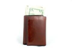 Raccoglitore con soldi. Immagine Stock