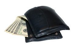 Raccoglitore con soldi Fotografie Stock Libere da Diritti