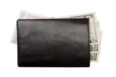 Raccoglitore con soldi isolati Fotografia Stock Libera da Diritti