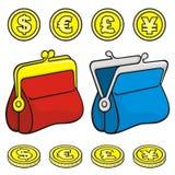 Raccoglitore della borsa della moneta illustrazione vettoriale