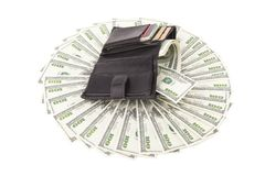 Raccoglitore di immagine con il dollaro Fotografia Stock Libera da Diritti