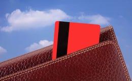 Raccoglitore e carte di credito immagini stock
