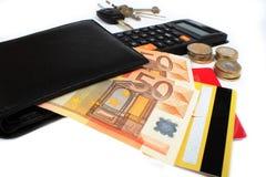 Raccoglitore e soldi Immagine Stock Libera da Diritti