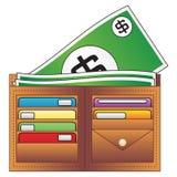 Raccoglitore e soldi illustrazione di stock