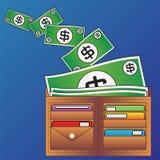 Raccoglitore e soldi illustrazione vettoriale