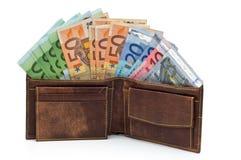 Raccoglitore e soldi Fotografia Stock Libera da Diritti