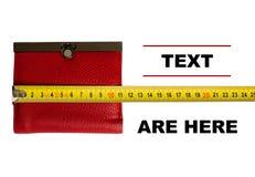 Raccoglitore rosso e misura di nastro gialla Fotografia Stock Libera da Diritti