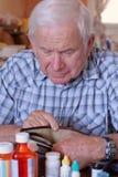 Raccoglitore vuoto del Grandpa Fotografia Stock Libera da Diritti