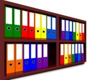 Raccoglitori colorati dell'ufficio Fotografia Stock