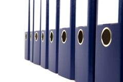 Raccoglitori di anello blu Immagine Stock Libera da Diritti