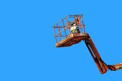 Raccoglitrice della ciliegia sull'azzurro Fotografia Stock Libera da Diritti