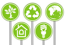 Raccolga la bandiera dell'ambiente Immagine Stock Libera da Diritti
