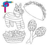 Raccolta 02 del Messico di immagine di coloritura Illustrazione Vettoriale