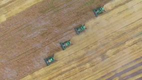 Raccolta aerea del grano stock footage