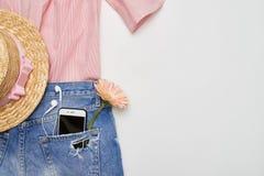 Raccolta alla moda dei vestiti di estate Immagine Stock Libera da Diritti