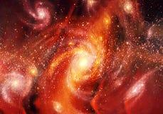 Raccolta astratta delle galassie a spirale variopinte con le stelle e la polvere dello spazio nell'universo royalty illustrazione gratis