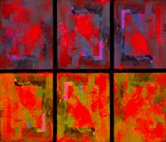 Raccolta astratta dello Splatter della pittura Fotografia Stock