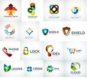 Raccolta astratta di logo della società Fotografia Stock
