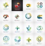 Raccolta astratta di logo della società Immagine Stock Libera da Diritti
