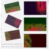 Raccolta astratta di progettazione per la decorazione dei biglietti da visita illustrazione di stock