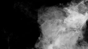 Raccolta bianca del fumo su fondo nero Fotografia Stock