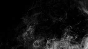 Raccolta bianca del fumo su fondo nero Immagine Stock
