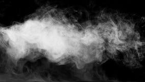 Raccolta bianca del fumo su fondo nero Fotografie Stock