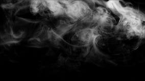 Raccolta bianca del fumo su fondo nero Immagine Stock Libera da Diritti